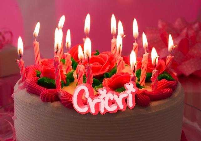Joyeux anniversaire Cricri!