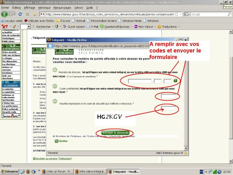 Consultez votre solde de points en ligne infractions for Interieur gouv fr solde points
