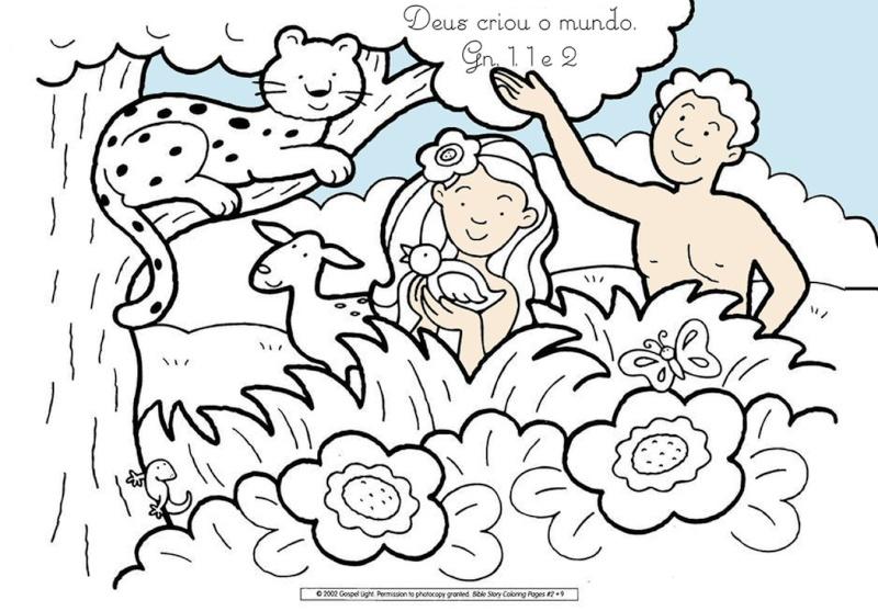 Amor em ensinar plantando a boa semente desenho para for Coloring pages god created the world